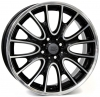 MINI W1653 RIVERS GLOSSY BLACK POLISHED R18 W7 PCD4x100 ET52 DIA56,1